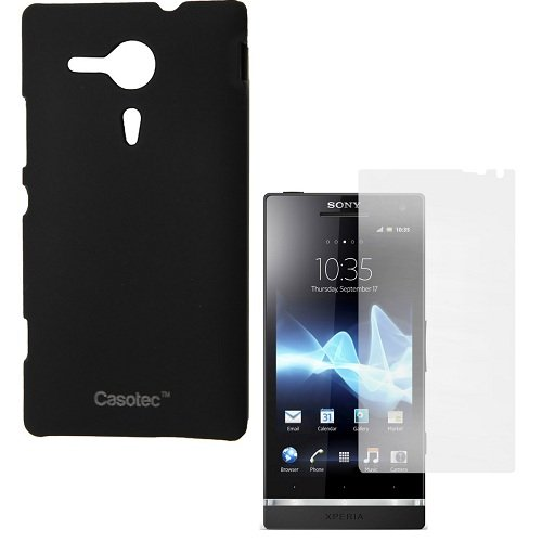 Casotec Ultra Slim Hard Shell Back Case Cover for Sony Xperia SP - Black  available at amazon for Rs.175