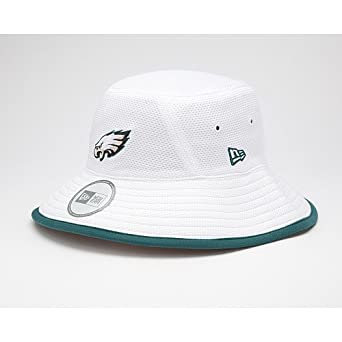 NFL Philadelphia Eagles Training Camp Bucket Hat, White, One Size Fits All by New Era