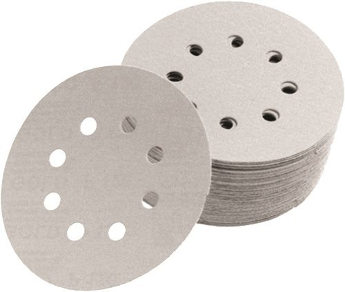 Norton 04033 5-Inch 5 and 8 Hole P80 3X Hook and Loop Discs, 50-Pack (Tamaño: 5)