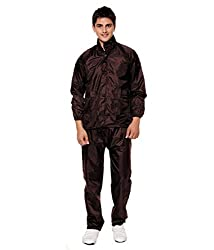 Ellis Mens Polyster Raincoat/Rainsuit/Rainwear (Brown) by Solly