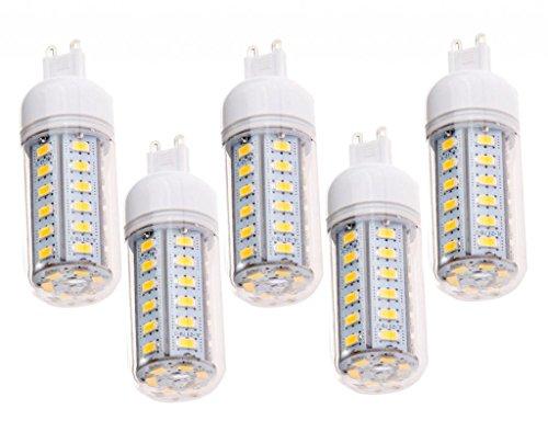 How Nice 6W Corn Light Lamp G9 36 Leds Smd 5730 Led Bulb Warm White Ac110-240V =60W Incandescent -Pack Of 5