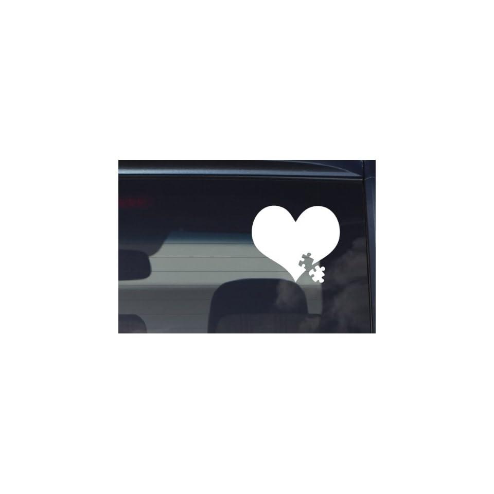 Autism Awareness Heart Puzzle iPad Car Notebook Decal Sticker 4