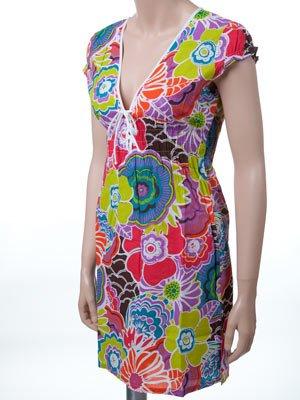 O'Neill Toula beach dress cover-up M Juniors Purple floral