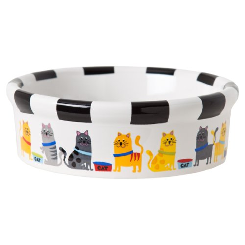 Signature Housewares Whiskers Cat Bowl, Extra Small
