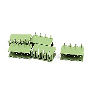 5 Pcs 5.08mm Pitch Right Angle 4pin PCB Pluggable Terminal Block