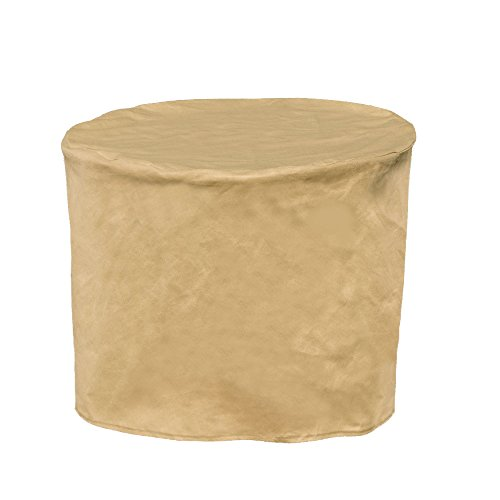 Budge All-Seasons Round Patio Table Cover, Extra Small (Tan) (Small Patio Side Table compare prices)