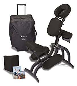 Earthlite Avila II Massage Chair Package (Black)