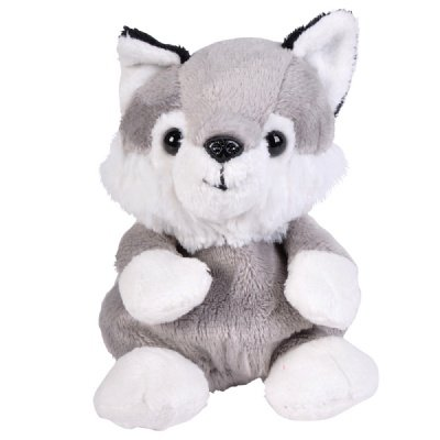 Wolf Beanie Bean Filled Plush Stuffed Animal - 1