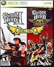 Guitar Hero II/Guitar Hero Aerosmith Dual Pack guitar hero world tour купить pc