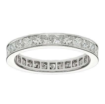 2.00 CT TW Princess Cut Diamond Eternity Wedding
