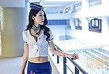 コスプレスチュワーデス衣装コスプレ制服ハロウィンセクシーレディースCAミニスカコスチューム誘惑航空!(S)