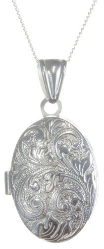 Classical 925 Sterling Silver Ladies Locket - 34mm*18mm, 6 Grams