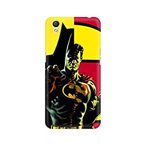 Ebby Batman within Superman Premium Printed Case For Oppo A37