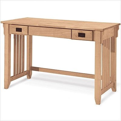 Buy Low Price Comfortable International Concepts OF-45D Mission Computer Desk, Unfinished (B0029LHTPM)