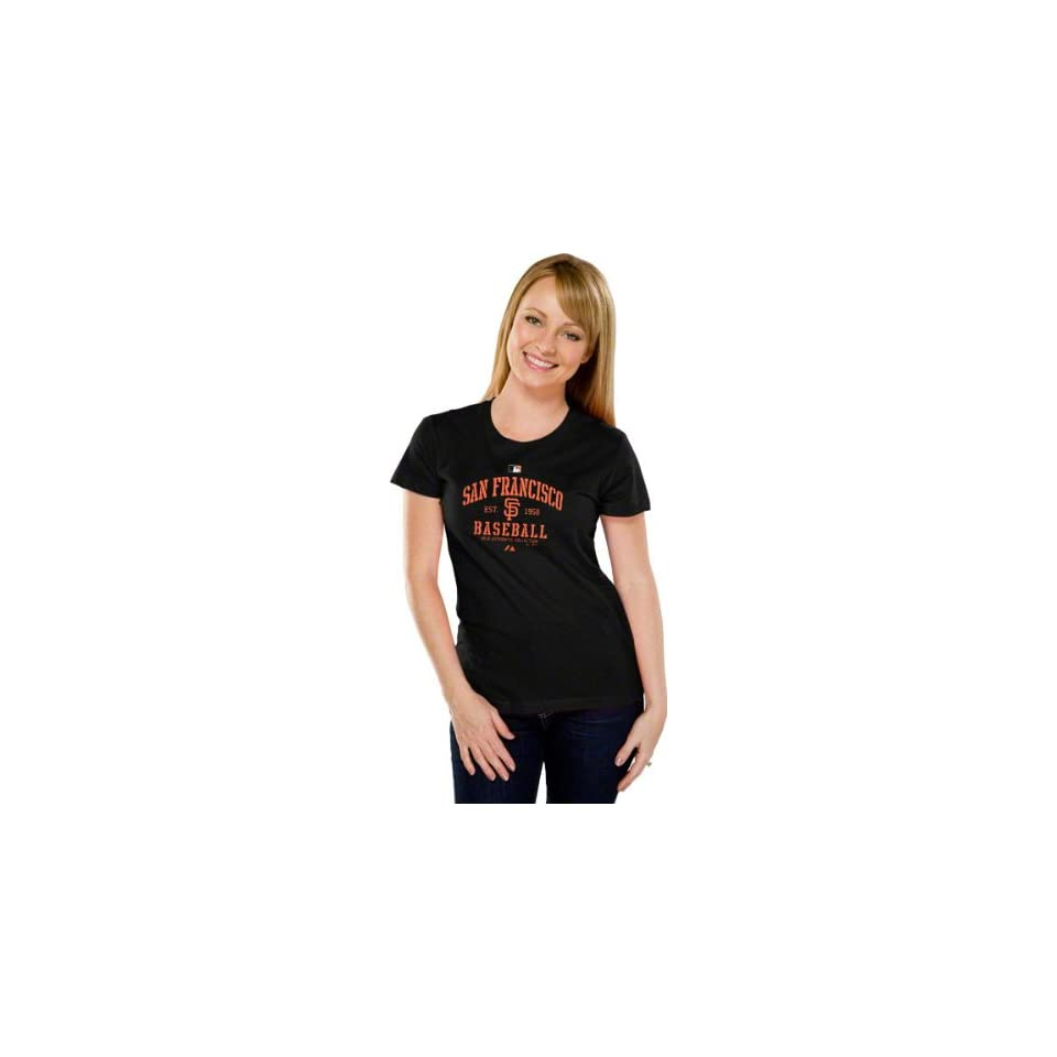 San Francisco Giants Womens Authentic Collection Black Classic T Shirt