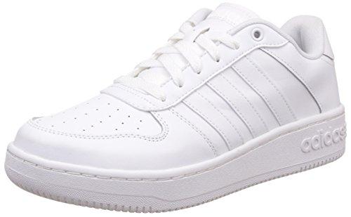 Adidas Team Court - Scarpe da Tennis Uomo, Bianco (Ftwr White/Ftwr White/Matte Silver), 42 2/3 EU