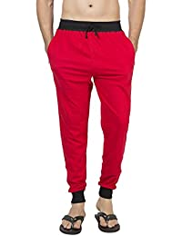 Clifton Men's Ribbed Slim Fit Track Pant - Red