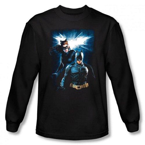 Dark Knight Rises - Batman & Catwoman Men's Long Sleeve T-Shirt