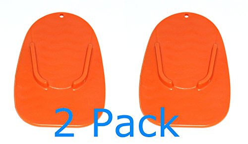 MOTORCYCLE KICKSTAND 2 Pack PLATE BIKER'S KICK STAND PAD ORANGE (Cycle Kickstand compare prices)