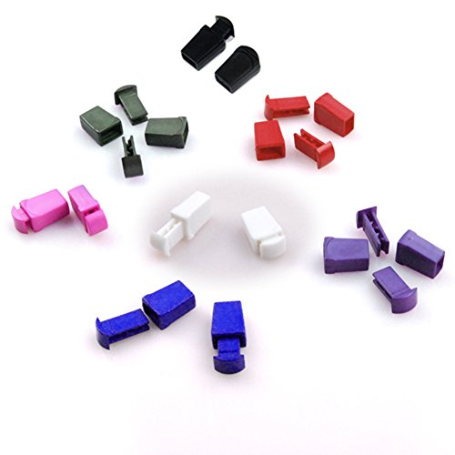 25pcs Zip Clip Buckle Zipper Pulls Cord Rope