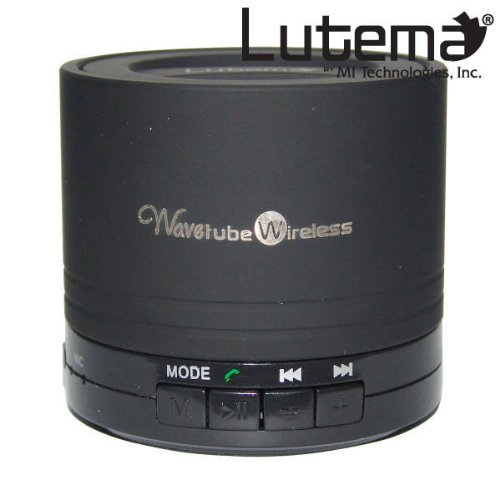 Lutema Wavetube Wireless Bluetooth Portable Digital Speaker W/Fm Radio - Black