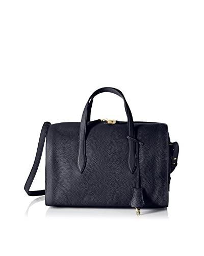 Giorgio Armani Women's Leather Satchel, Blue