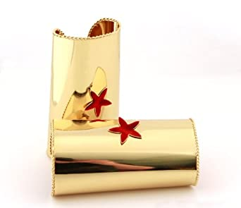 elope Cuff With Star Costume, Gold/Red, One Size