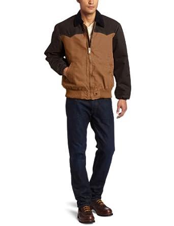 Carhartt Men's Big-Tall Quilted Flannel Lined Sandstone Duck Santa Fe Jacket, Carhartt/Dark Brown, 4X