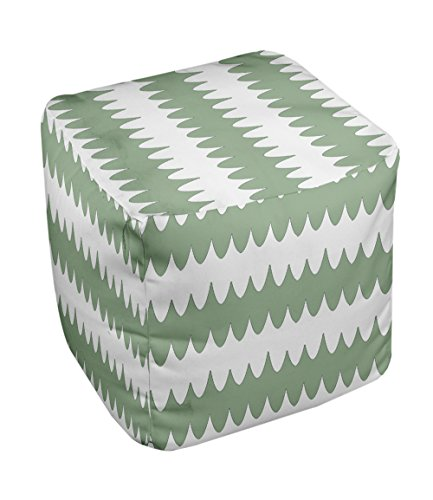 E by design FG-N20-Margarita_Green-13 Geometric Pouf