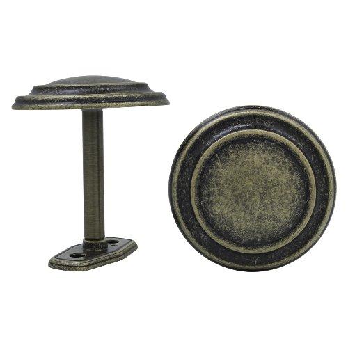 Levolor Medallion Drapery Holdbacks, Pair of 2, Antique Brass