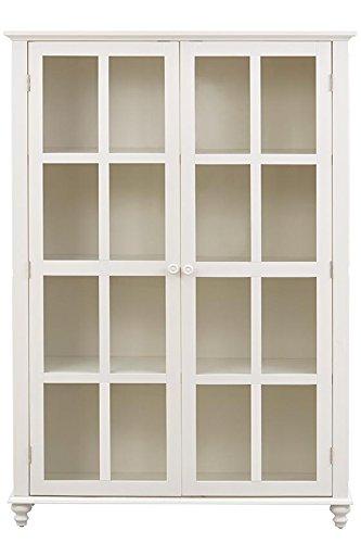 Shutter Glass Door Bookcase, GLASS DOORS, POLAR WHITE