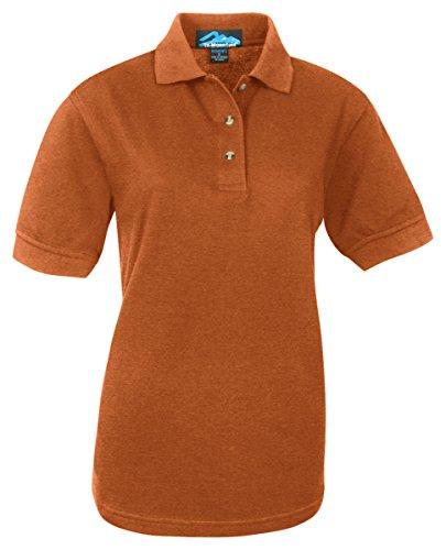 Women'S Contour Pique Golf Shirt, Color: Burnt Orange, Size: X-Large front-785838