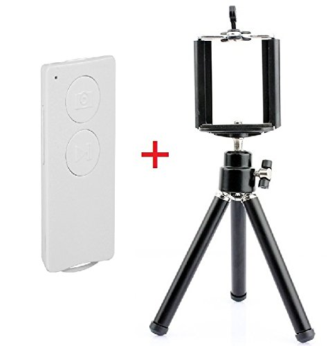 Ft Three3 (Tm) Bluetooth Remote Shutter, Wireless Smartphone Multifunction Remote Control With Tripod And Phone Holder For Samsung Galaxy Note 3 , Note 2 , S4 , S3 , Ios5.0 Of Iphone 4S, 5, 5S,5C, Ipad 3Rd, 4Rd Generation, Ipad Air, Ipad Mini1, Mini2, Ipa