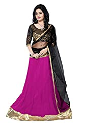 JIYA FASHION NEW DESIGNER LEHENGA PINK+BLACK