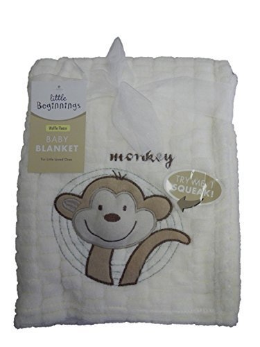 Little Beginnings Ivory 'Waffle Fleece' Baby Blanket - 1