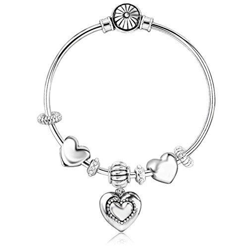 [BL1290056C1 New Style Alloy Exotic Heart-Shaped Plating Women's Bracelet] (Starter Dance Costumes For Sale)