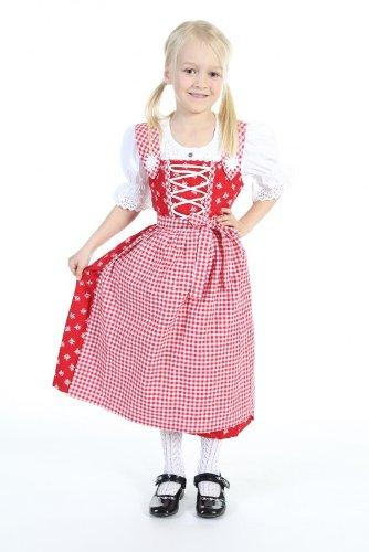 Isar Trachten Mädchen Baumwolldirndl 52398 ROT bestellen