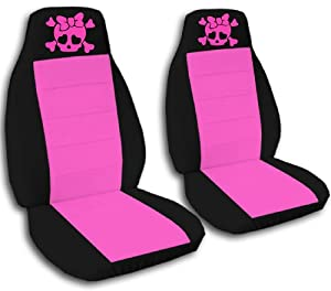Amazon 2 Black And Hot Pink Girly Skull Seat Covers