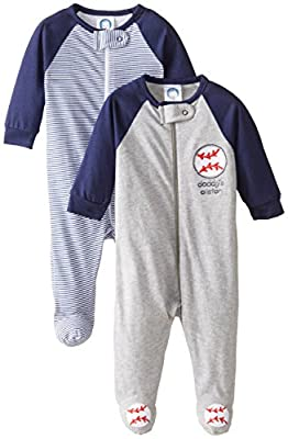 Gerber Baby Boy Zip Front Sleep 'N Play (Pack of 2)
