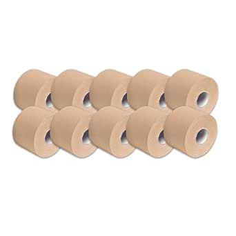 "3B Scientific Beige Cotton Rayon Fiber Kinesiology Tape, 16' Length x 2"" Width (Case of 10 Rolls)"