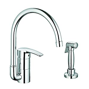 grohe 33980001 kitchen faucet touch on kitchen sink grohe kitchen faucets parts amazon com