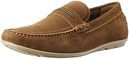 Bata Men's Loyd Tan Light Brown Leather Loafers and Mocassins - 7 UK/India (41 EU) (8533213)