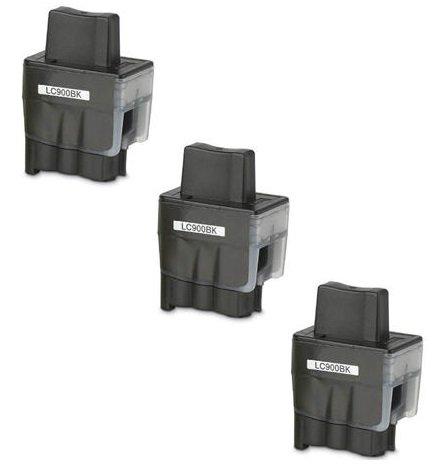 3 XL SCHWARZ Druckerpatronen kompatibel für Brother LC900 / LC950, für Brother DCP-110C, DCP-115C, DCP-117C, DCP-120C, DCP-310C, DCP-310CN, DCP-315C, DCP-315CN, DCP-340CN, DCP-340CW, Fax-1835, Fax-1835C, Fax-1840C, Fax-1940, Fax-1940C, Fax-2240, Fax-2240C, Fax-310, MFC-210C, MFC-215C, MFC-3100, MFC-3240C, MFC-3240CN, MFC-3340CN, MFC-3342CN, MFC-410CN, MFC-420CN, MFC-425CN, MFC-430CN, MFC-5440CN, MFC-5540CN, MFC-5840CN, MFC-610CN, MFC-620CN, MFC-640CN, MFC-640CW, MFC-820CW