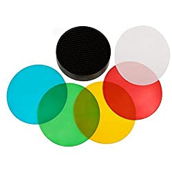 NEEWER® Four Color Gel Filters (Red, Blue, Green, Yellow) + Reflector Honeycomb Grid Kit For WITSTRO Flash AD180 AD360