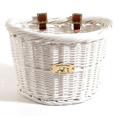 Nantucket Bicycle Basket Co. Cruiser Collection (white) Bike Basket