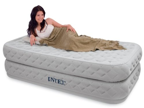 Intex TWIN size Supreme AirFlow Airbed + Electric Pump #66964