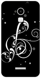 The Racoon Grip Black Music Note hard plastic printed back case / cover for Coolpad Note 3