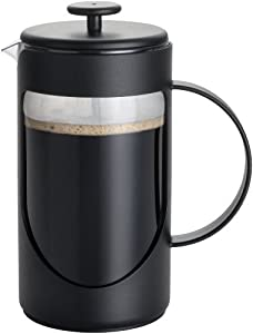 BonJour Ami-Matin Unbreakable BPA Free with Flavor Lock Brewing French Press, 8-Cup, Noir Black