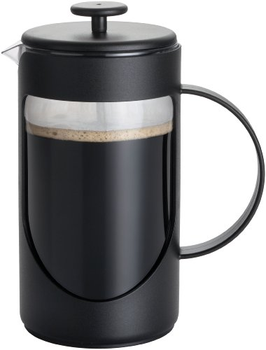 BonJour Coffee Unbreakable Plastic French Press, 33.8-Ounce, Ami-Matin(tm), Black