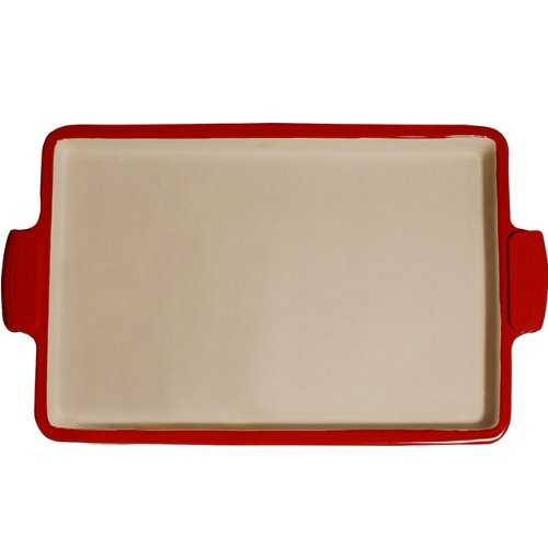 "Superstone / 14.75"" Sicilian Pizza Stone With Easy-Grip Silicone Handles"